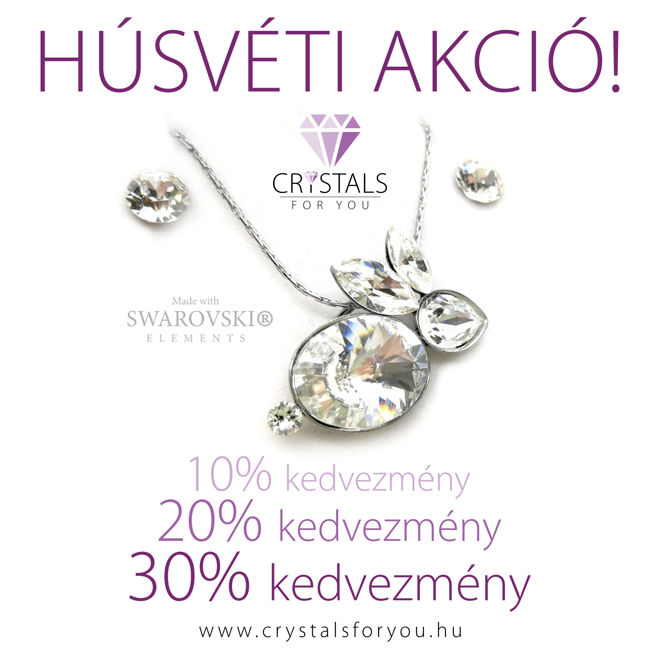 Swarovski kristállyal díszített ékszerek 10% 20% 30% kedvezménnyel ékszer webshopunkban!